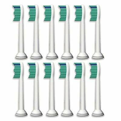 12 Sonic Replacement Toothbrush Heads for Philips Sonicare Proresults HX6014/13