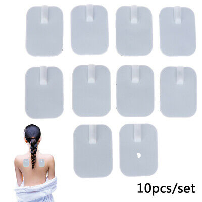 10Pcs 4*6cm Reusable Tens Machine Electrode Pads Body Massager Selfadhesive Pads