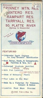 Fish-n-Map Co. SPINNEY MNT ATERO RAMPART TARRYALL RES SO PLATTE RIVER c 1992