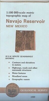 USGS Topographic Map NAVAJO RESERVOIR - New Mexico - 1980 - 100K