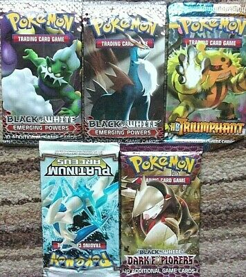 Five Packs of Pokemon Cards