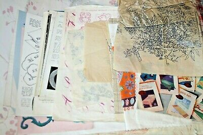 Large Collection Vintage Embroidery Patterns Transfers sewing Needlework Crochet