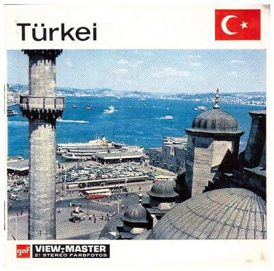 3 VIEW-MASTER 3D Reels📽️NATIONS OF THE WORLD - TÜRKEI, C 805 D,3D-STEREO
