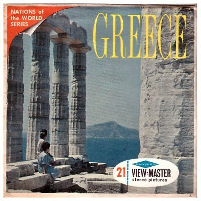 3 VIEW-MASTER 3D Reels📽️Antikes Griechenland, GREECE,B 205,NATIONS OF THE WORLD