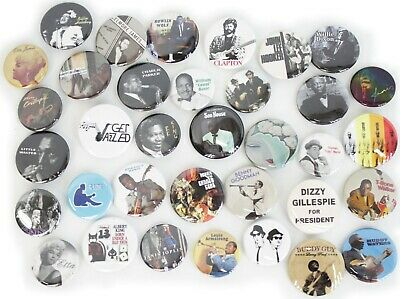Blues and Jazz Music Band Buttons Pins Badges 40+ DESIGNS Mix & Match Gifts