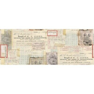 "Tim Holtz Idea-Oligy Collage Paper 6"" x 6 yards ""Document"""