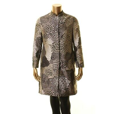 ANNE KLEIN NEW Women's Printed Long Basic Jacket Top TEDO