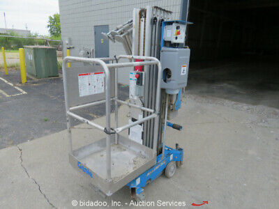 """2012 Genie AWP30S 29'6"""" Electric Mast Lift Personnel Manlift Aerial Stock Picker"""