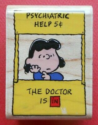 """Peanuts Lucy Psychiatric Help 5 cents The Doctor Is In FRIDGE Magnet 2.5/"""" x 3.5/"""""""