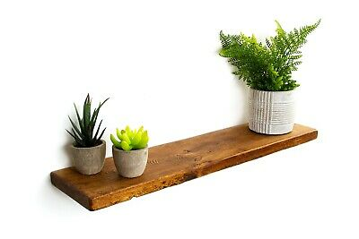 Rustic Solid Wood Floating Shelf Shelves Handmade Industrial Distressed 15 cm