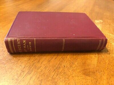 Late 1800s Antique Book The Descent of Man by Charles Darwin