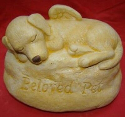BELOVED DOG ANGEL PET MEMORIAL STONE ROCK Concrete Garden Ornament Statue