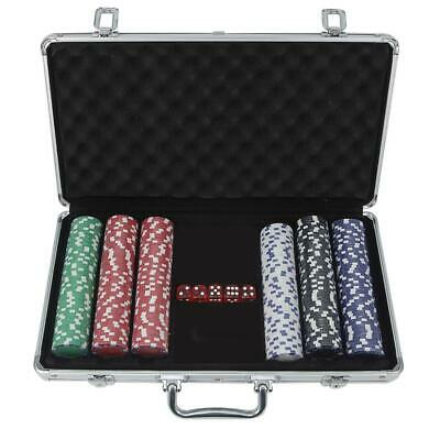 1000 Chips Poker Chip Set 11.5 Gram Holdem Cards Table Game with Aluminum Case