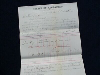 1878 Insane Hospital Lincoln,Nebraska ( Graham,Bates,Weston,Lutz ) Document