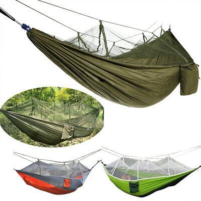 Hanging Hammock Bed Travel Outdoor Camping Tent & Mosquito Net Double Person CHL