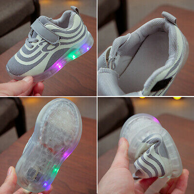 LED Children Kids Boys Girls Light Up Sneakers Baby Luminous Shoes Trainers HOT