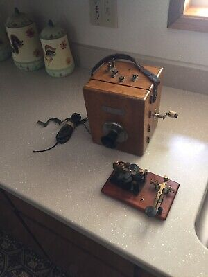 Antique Monarch Repairman's Unit With Morse Code Key And Sounder