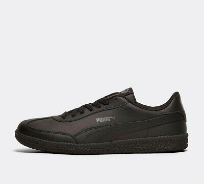 Mens Puma Astro Cup Leather Black Trainers RRP £54.99
