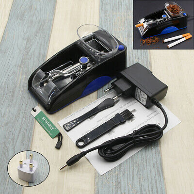 Blue DIY Electric Automatic Cigarette Roll Machine Tobacco Injector Make Roller