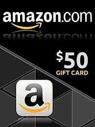 Amazon $50 Gift Card - Ships in 3 Hours!