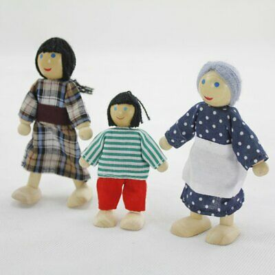 Learning Kids Cartoon Doll Play House Toy Children Cute Safe Toys Gifts 6pcs T8