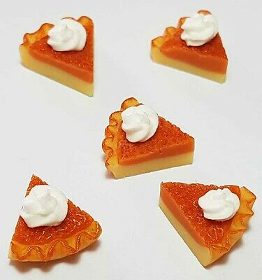 5 Dollhouse Miniature Cake Slices * Doll Mini Food Tart Pie Set Bakery Dessert
