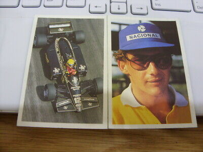 Question of Sport-1986 1st Edition Cards 2 in Total- Ayrton Senna-Formula One