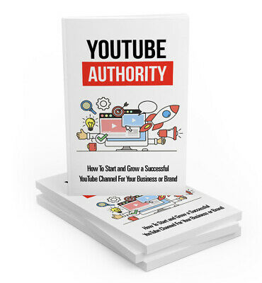 Youtube Authority Internet Marketing Ebook PDF Master Resell Right+Free Shipping
