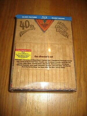 Woodstock 40Th Anniversary Directors Cut Blu-Ray Dvd New Collectors Edition Set