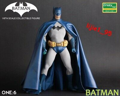 Dc Comics Crazy Toys Blue Batman 1/6Th Collectible Action Figure New In Box
