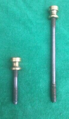 Vintage Steel Rods With Brass Nuts For A Stanley No. 3 Plane For Low Knob & Tote
