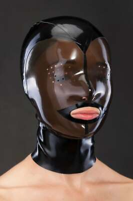 Latex Catsuit Rubber Gummi Unique Hoods Fly Eye Mask Party Sexy Customized 0.4mm