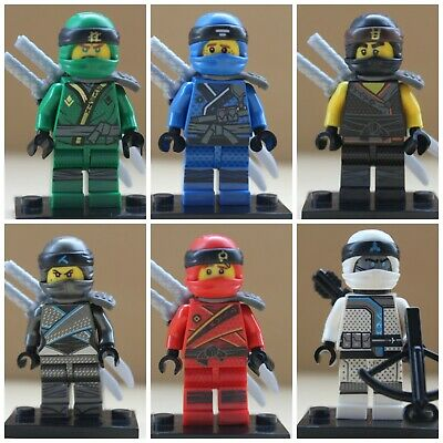 Ninjago Cartoon Ninjas 6 X Mini Figure Use With Lego Lloyd,Kai,Nya,Cole,Jay Zane