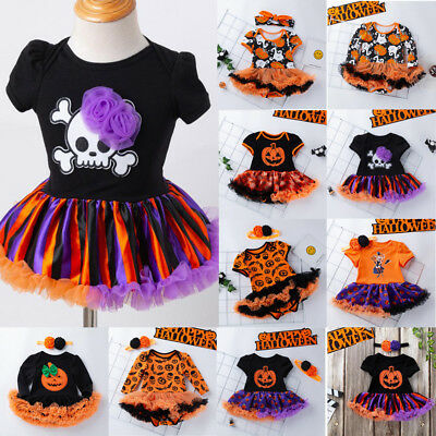 Robe mignonne princesse enfant bas âge bébé fille Halloween Pumpkin Party Robes