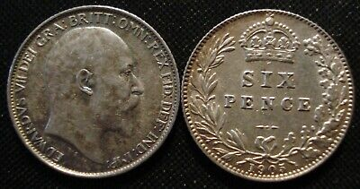 Edward Vii Silver Sixpences 1902-1910 Nf-Xf Choose The Actual Coin You Want