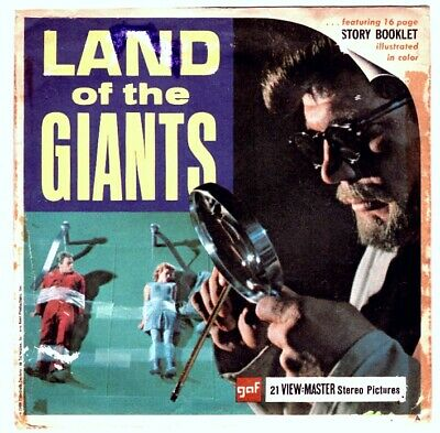 "3 VIEW-MASTER 3D Reels📽️LAND of the GIANTS ""The Crash""B 494,Planet der Giganten"