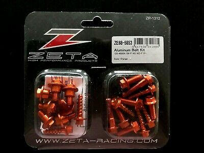 New Ktm Sx Sxf 2019 Zeta Orange Aluminum Plastic Bolt Kit