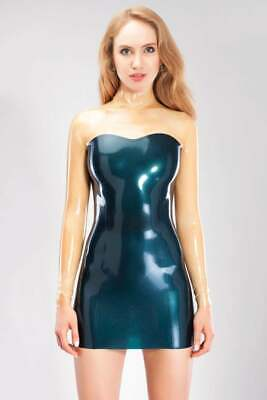 Latex Catuist Rubber Gummi Sexy Long Sleeves Assorted Colors Wear Hot Dresses