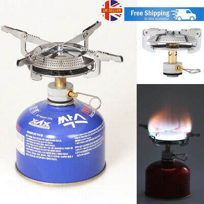 Mini Camping Gas Stoves 4000W Ultralight Portable Outdoor Hiking Backpacking UK