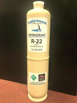 R22, R-22, Refrigerant 22, Air Conditioning, Refrigeration, Disposable 38 oz Can