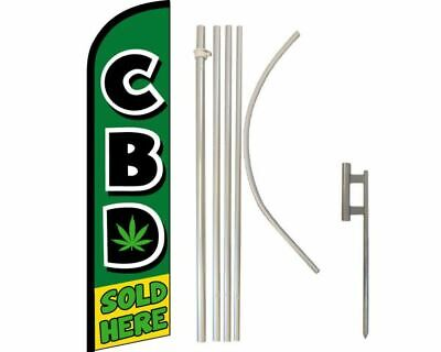 4 Advertising Windless Feather Flags: Kratom CBD Flutter Flags Stand 15 Foot When Assembled! Sale /& Now Open with Hardware