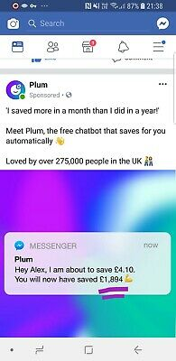 Make a free £25 for Plum UK only