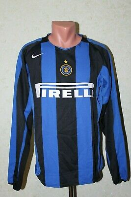 Inter Milan Italy Football Shirt Jersey Maglia Soccer 2004 2005 Home Long Size M