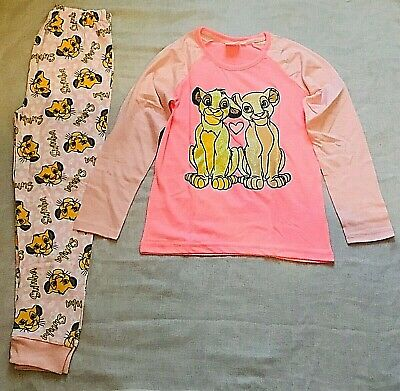 Disney Lion King Girls Pyjama Set Kids Full Pj set (2-12years)
