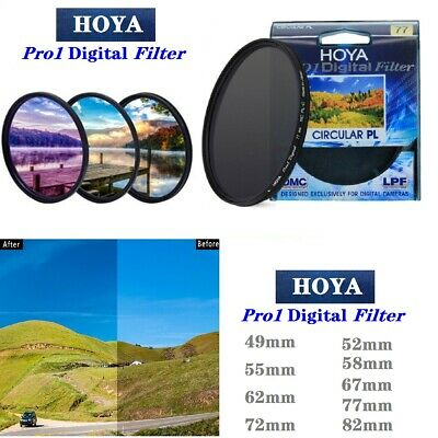 HOYA CPL 49mm--82mm Pro1 Digital CIRCULAR Polarizer Camera Filter for SLR Camera