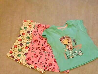Primark Baby Girl Mermaids Pack of 3 T-shirts 3-6 Months