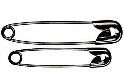Whitecroft 53122 | Black Plated Mild Steel Safety Pins | 23mm | 1440 Pins