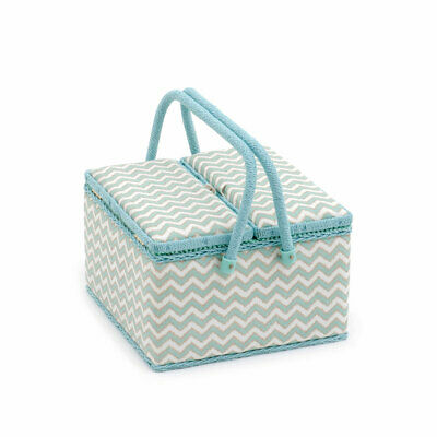 HobbyGift MRLTLE269 | Scribble Chevron Large Twin Lidded Sewing Box