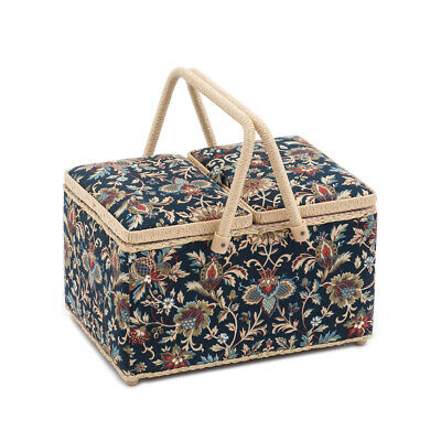 S&W Collection HGTLR281 | Twin Lid Sewing Box | Rectangle | Canterbury Pattern