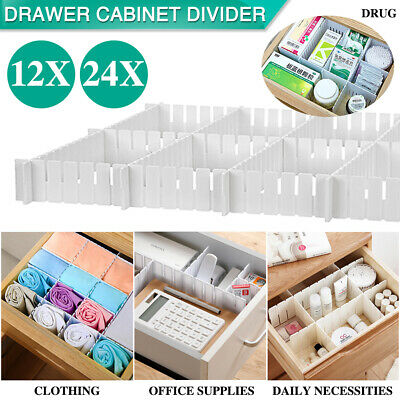 12/24X Adjustable Clapboard Drawer Cabinet Divider DIY Storage Organiser
